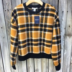 """NWT Forever 21 """"Clueless"""" Plaid Sweater Yellow"""